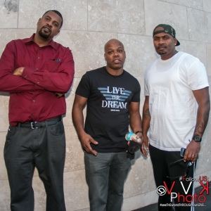 GTAV actors Slink and Shawn Fonteno standing with Too Short